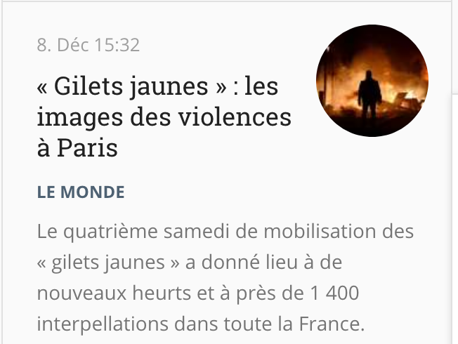 « Gilets jaunes » : les images des violences à Paris