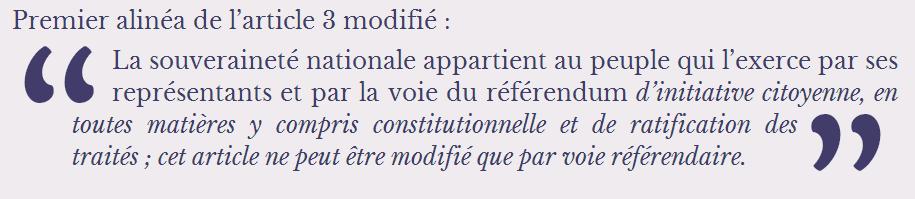 Article 3 modifié